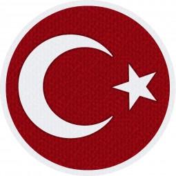 Türkei Flagge Logo für Bedruckung der Trikots
