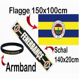 Fenerbahce Schal, Flagge & Fanarmband Fanartikel-Paket