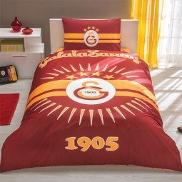 Galatasaray Bettwäsche mit Laken, Bezug & Kissenbezug