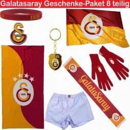 Galatasaray Fanartikel Geschenke-Paket 8 teilig
