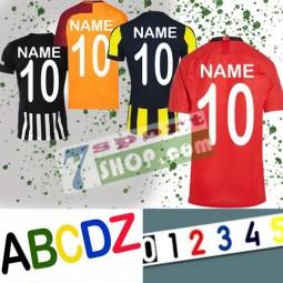 Beflockung der Trikot mit Name und Nummer