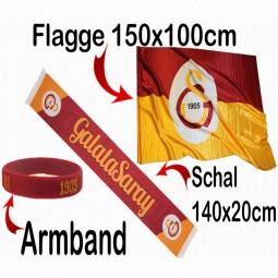 Galatasaray Schal, Flagge, Fanarmband kleines Fanpaket