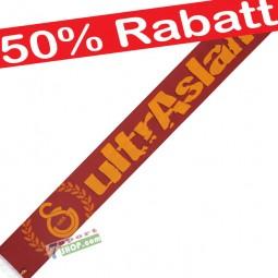 Galatasaray Ultra Aslan Schal beidseitig Satin glänzend
