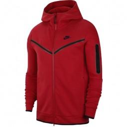 Nike Hoodie Tech Fleece rot Herren-Sportjacke m. Kapuze