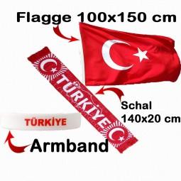 Türkei Schal, Flagge & Fanarmband kleines Fan-Paket